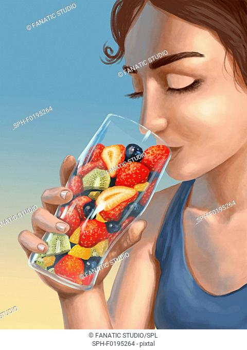 Illustration of healthy eating