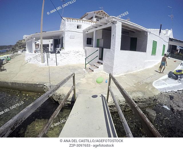 Sa Mesquida fishing village in Minorca Balearics Spain on July 30. 2017