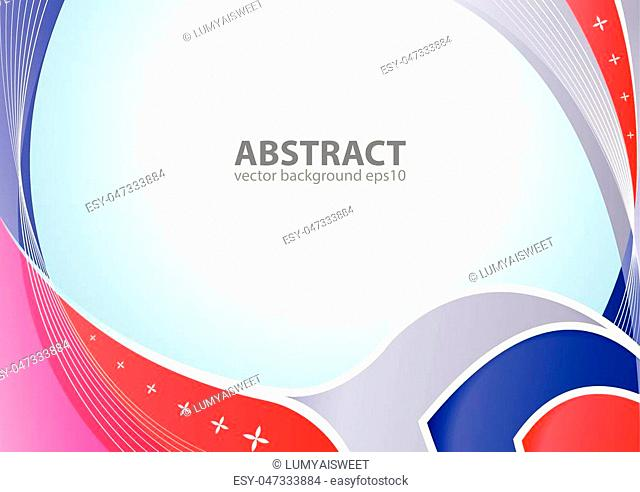 Abstract elegant background design with space for your text. Corporate concept red and blue vector illustration