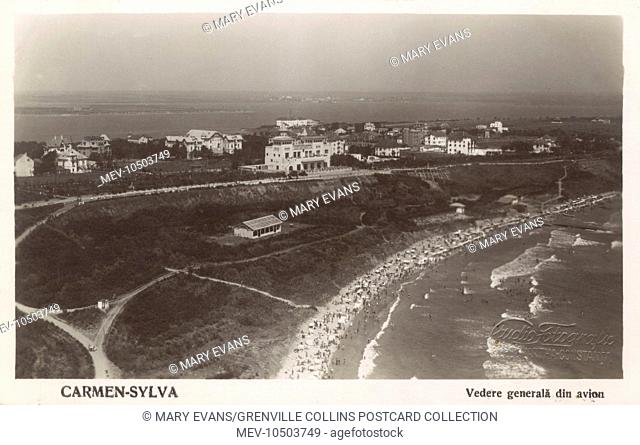 Eforie Sud - a town and a holiday resort on the Black Sea coast in Constanta County, Romania. Ion MovilÒ erected a hotel named Baile Movila (Movila Spa) here in...