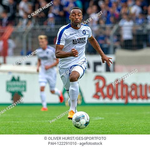Sallou Sane (KSC) GES / Football / KSC Blitz Tournament: Karlsruher SC - Hertha BSC Berlin, 13.07.2019 Football / Soccer: Short time Tournament: Karlsruhe vs...