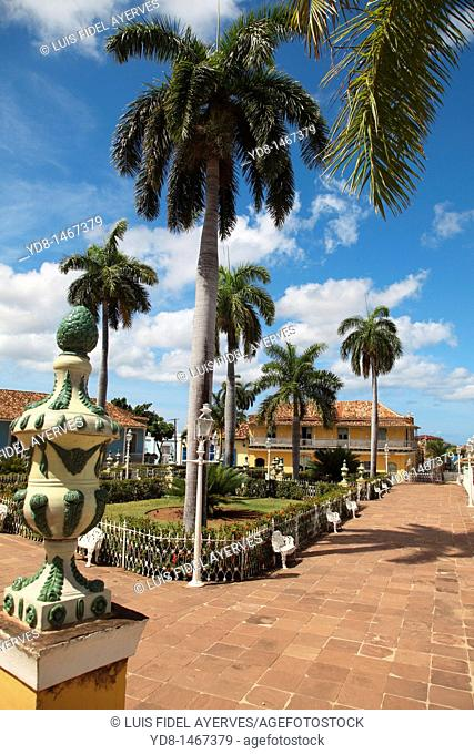 Central Park from the historic city of Trinidad, Cuba