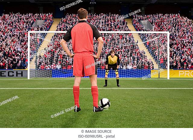 Goalkeeper anticipating free kick