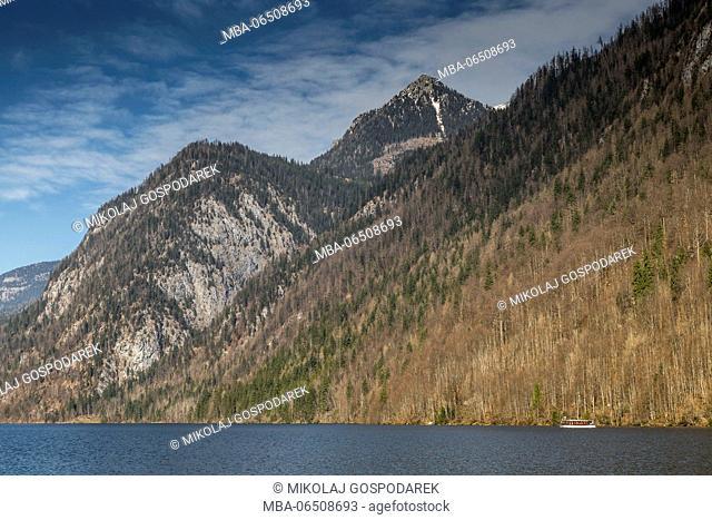 Europe, Germany, Bavaria, Königssee. Berchtesgaden National Park