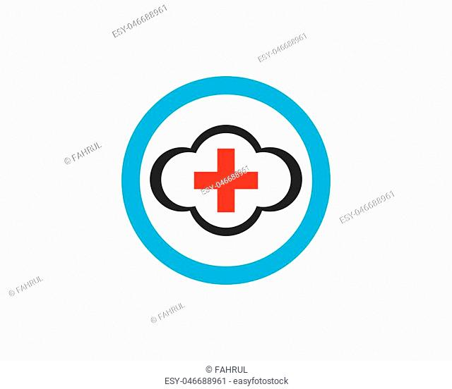 Cloud icon logo vector template