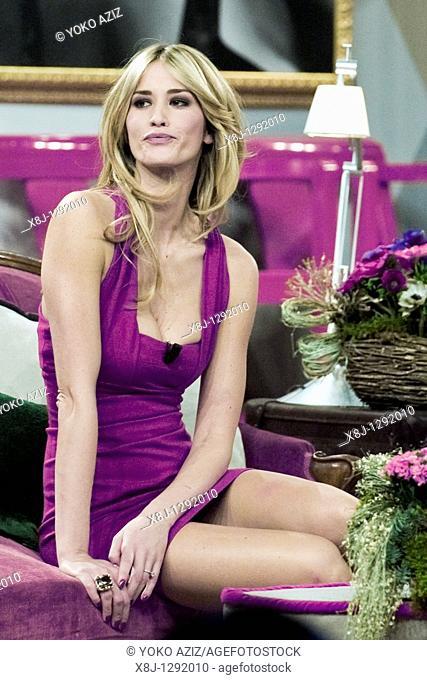 Elena Santarelli, Telecast 'Kalispera', Canale 5, Milan, Italy, 2010