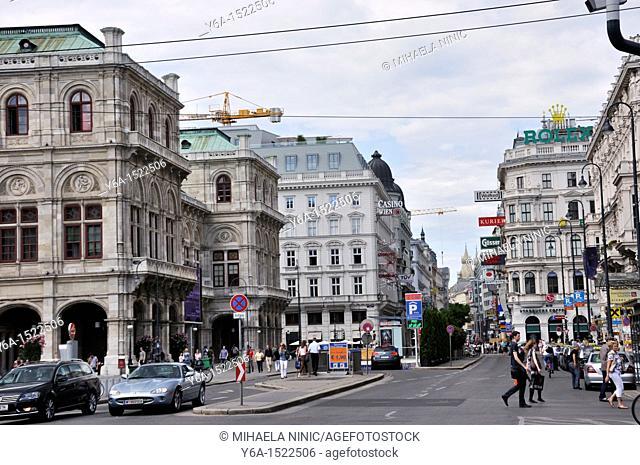 Street scene, Vienna, Austria, Europe