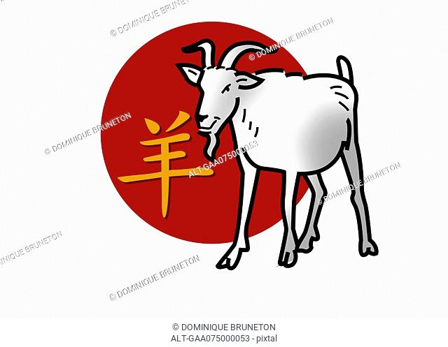 Chinese zodiac sign for year of the goat