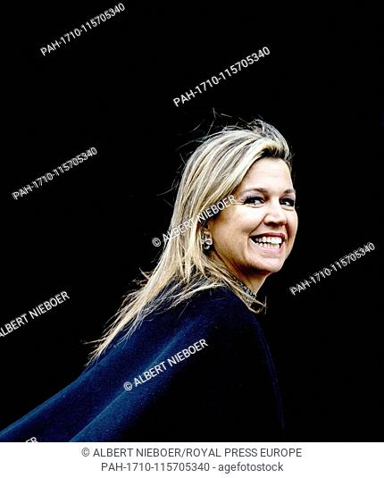Queen Maxima of The Netherlands arrives at the Royal Palace in Amsterdam, on January 15, 2019, to attend the annual New Year's reception for Dutch guests