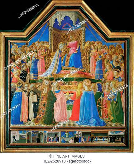 The Coronation of the Virgin, ca 1430. Artist: Angelico, Fra Giovanni, da Fiesole (ca. 1400-1455)