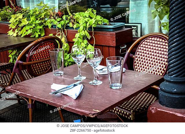 Restaurant table. Soho, NYC