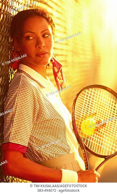 Woman, tennis