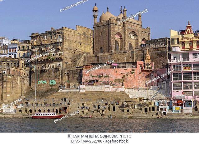 Panchganga ghat, varanasi, uttar pradesh, india, asia