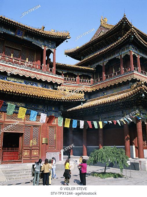 Asia, Beijing, Peking, Buddhist, China, Holiday, Lama temple, Landmark, Temple, Tibetan, Tourism, Travel, Vacation