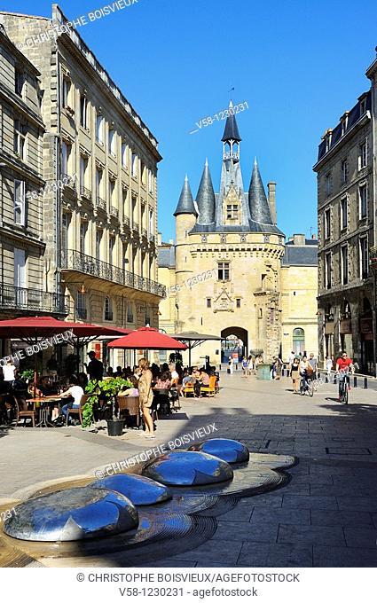 France, Gironde, Bordeaux, World Heritage Site, Porte Cailhau 15-16th C