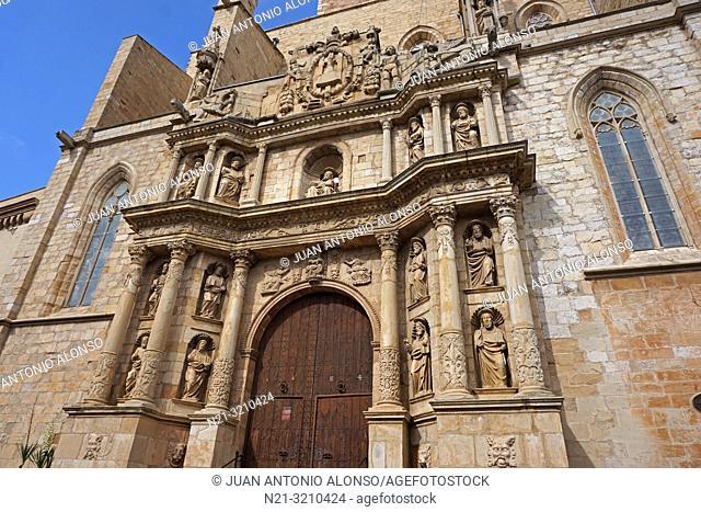 Santa Maria la Major Church. Montblanc, Tarragona, Catalonia, Spain, Europe
