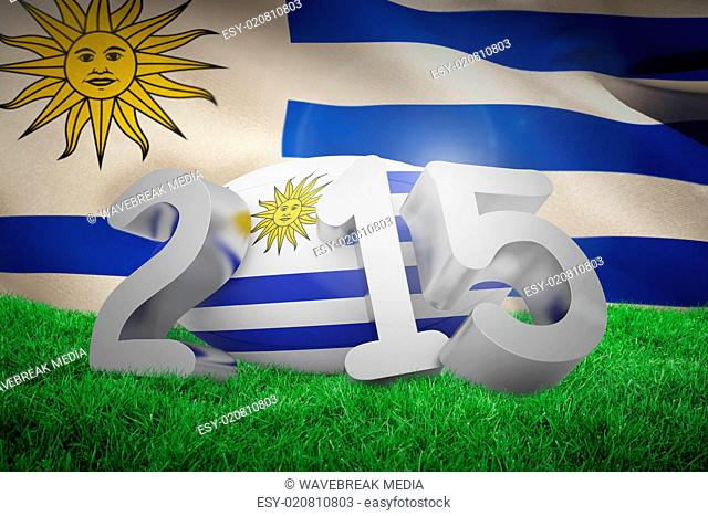 Composite image of uruguay rugby 2015 message