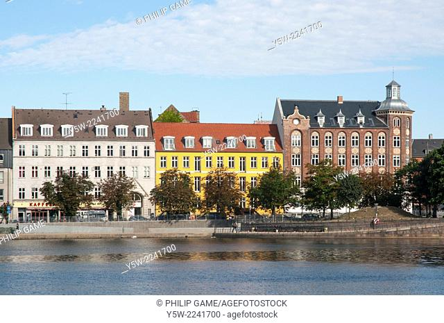Streetscape beyond the canal lakes, Vesterbro, Copenhagen