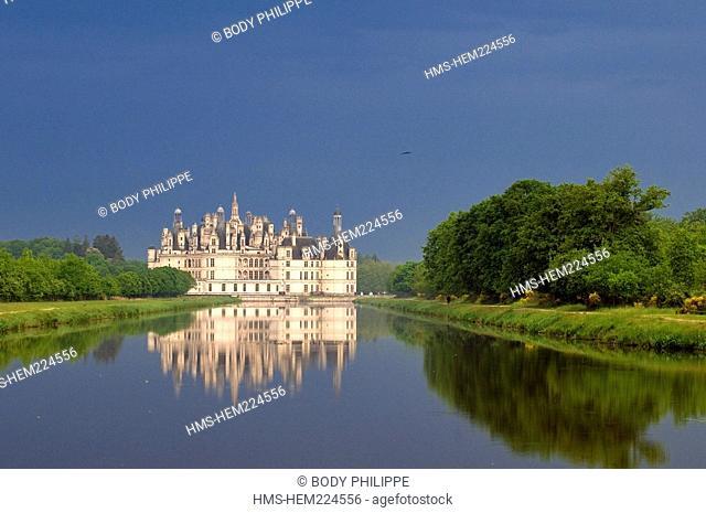 France, Loir et Cher, Loire Valley listed as World Heritage by UNESCO, Chateau de Chambord