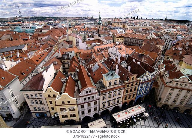 A beautiful view of the old city of Prague