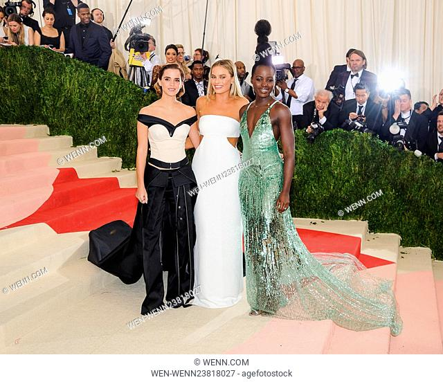 Metropolitan Museum of Art Costume Institute Gala: Manus x Machina: Fashion in the Age of Technology at the Met Museum Featuring: Emma Watson, Margot Robbie