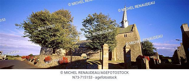 Chapel of Saint-Gonery near Plougrescant. Côtes-d'Armor, Bretagne, France