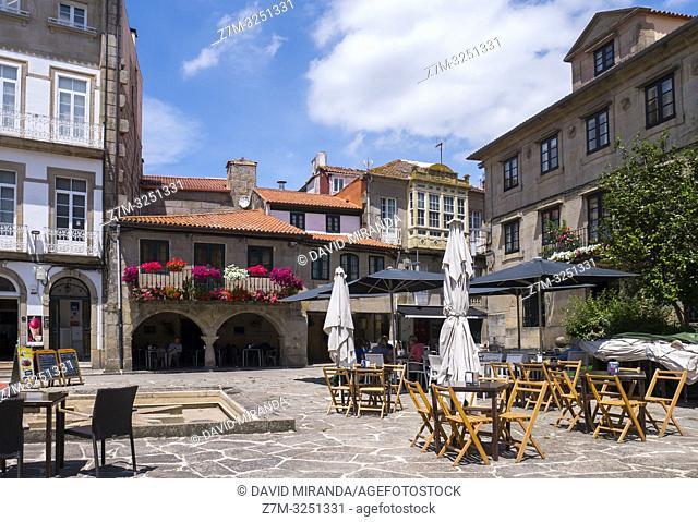 Plaza de la Estrella. Pontevedra. Galicia. España