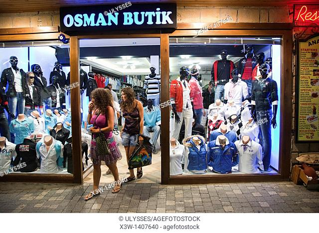clothing store, shopping, side, anatolia, mediterranean coast, turkey, asia