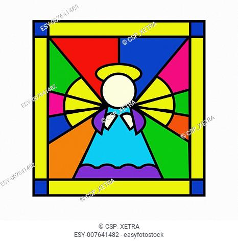 Angel in stained glass