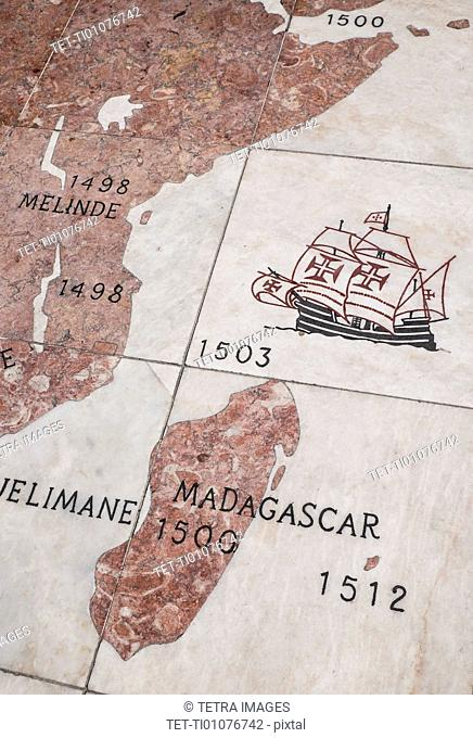 Close up of map