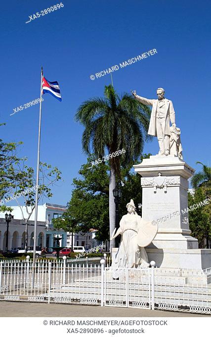 Statue of Jose Marti in Jose Marti Park, Cienfuegos City, UNESCO World Heritage Site, Cienfuegos, Cuba