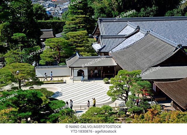 Ginkakuji, Temple of the Silver Pavilion or Jisho-ji, Kyoto