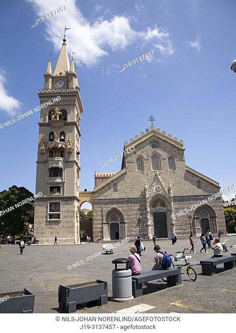 Cathedral, Messina, Sicily, italy, Clock Tower, largest astronomical clock in the world