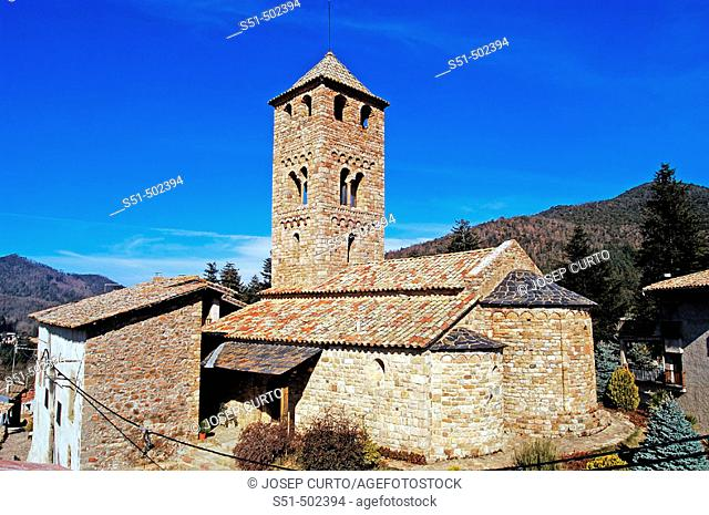 Romanesque church of Sant Vicenç. Espinelves. Girona province, Catalonia, Spain