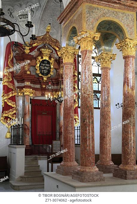 Czech Republic, Moravia, Mikulov, Synagogue, interior,