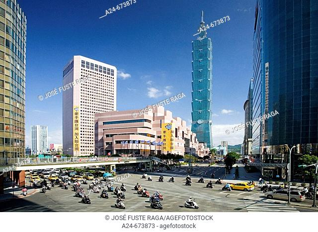 Nov. 2007. Taiwan. Taipei City.Taipei 101 Bldg (World's tallest Bldg.)