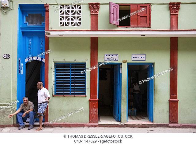 Cuba - Street scenery in Habana Vieja, the Old Town of Cuba's capital Havana