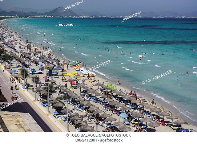 Can Picafort, municipio de Santa Margarita, Bahia de Alcudia,islas baleares, Spain