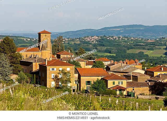 France, Rhone, Beaujolais, Pierre Dorées, the village of Theize