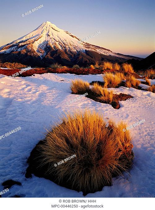 Mount Taranaki from Pouakai Range, Egmont National Park, New Zealand