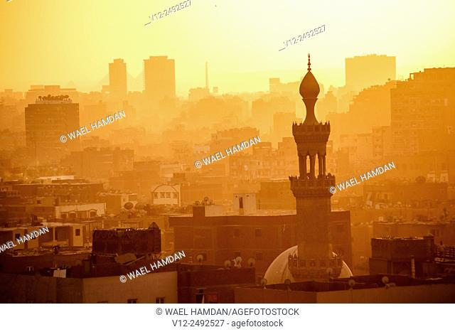 Higher view of Cairo city, Cairo, Egypt