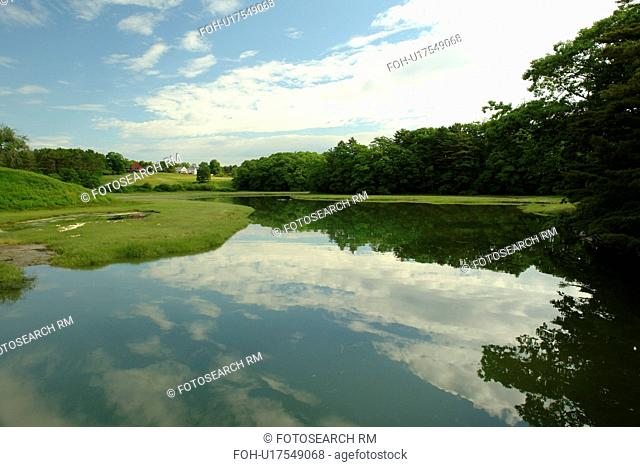 Freeport, ME, Maine, water, reflection