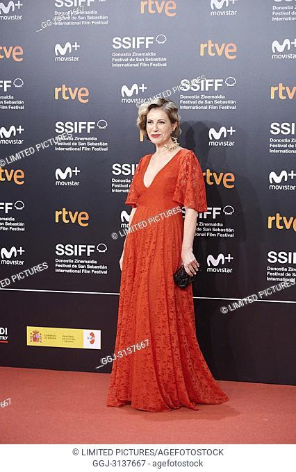 Mercedes Moran attended 'El amor menos pensado' Premiere during the 66th San Sebastian International Film Festival at Kursaal Palace on September 21