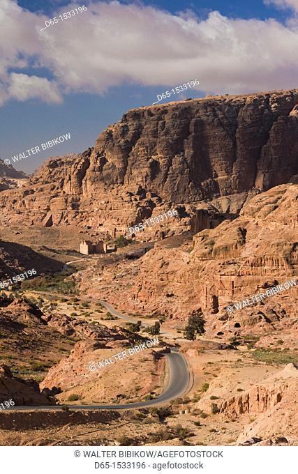 Jordan, Petra-Wadi Musa, Ancient Nabatean City of Petra, Umm Sayhoun access road
