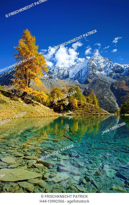Lac Bleu, Dent de Perroc, Valais, Switzerland