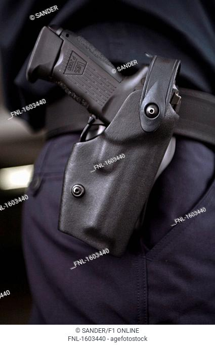 Close-up of handgun
