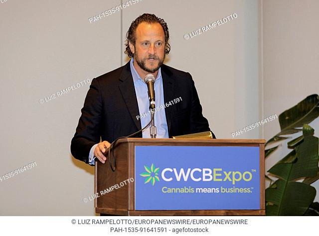 Javits Center, New York, USA, June 15 2017 - Joshua Laterman CEO of First American Holdings and the National Association of Cannabis Businesses (NACB)