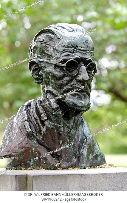 James Augustine Aloysius Joyce, 1882 - 1941, Irish poet and writer, memorial, St. Stephan's Green, Dublin, Republic of Ireland, Europe, PublicGround