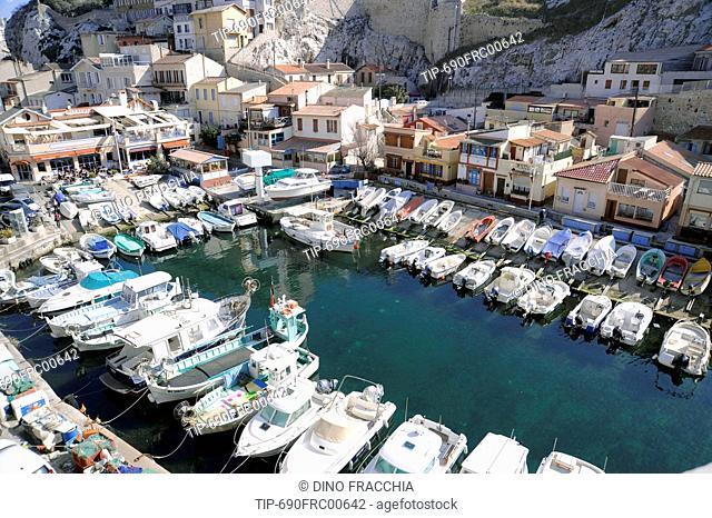 France, Marseille, the ancient fishing village Vallon des Auffes