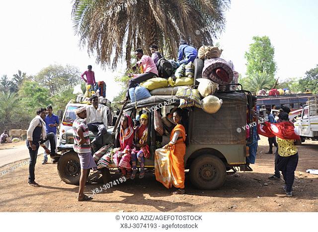 India, Orissa, Chhattisgar, daily life